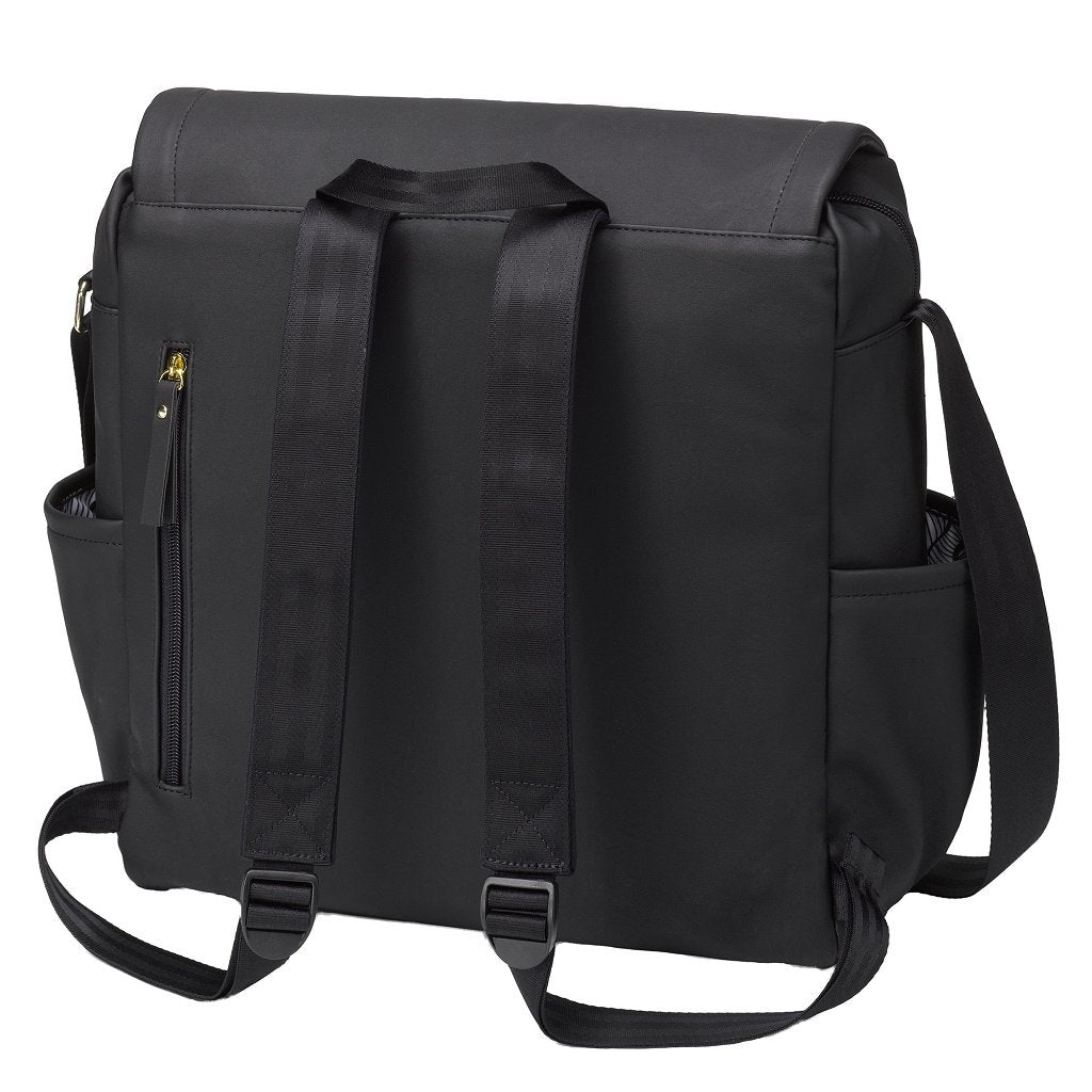 Petunia Pickle Bottom Boxy Backpack: Black Leatherette