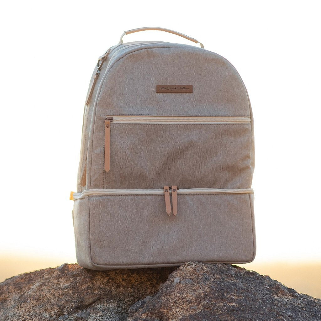 Petunia Pickle Bottom Axis Backpack: Sand