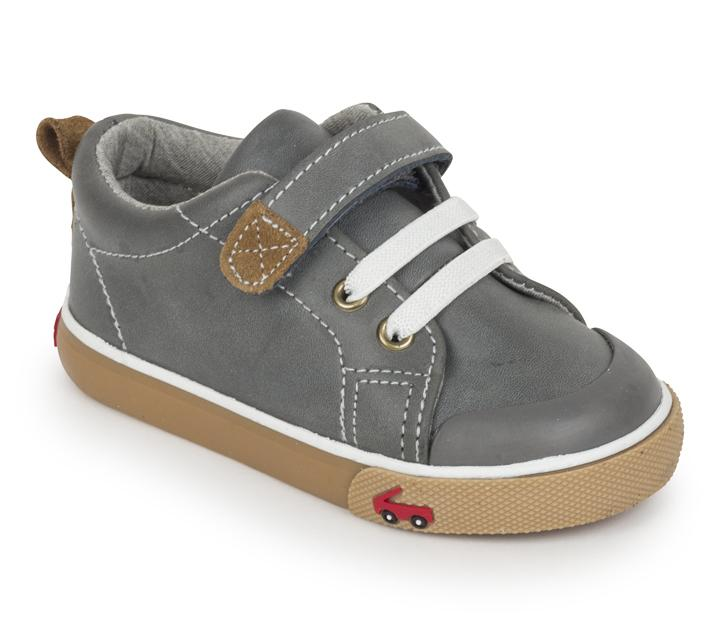 See Kai Run Stevie II in Gray Leather For Boy's