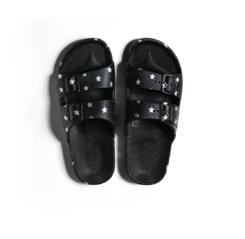 Freedom Moses Slipper in Stars Black