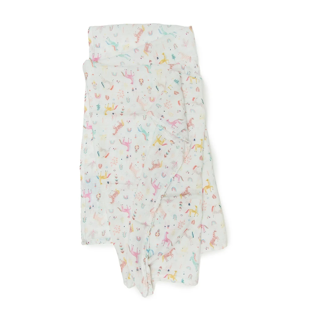 Loulou Lollipop Muslin Swaddle - Unicorn Dream