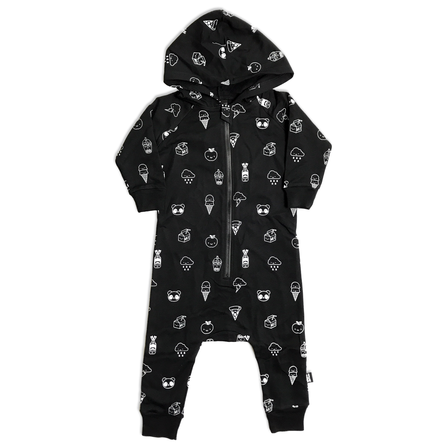 Whistle and Flute Allover Print Hooded Romper