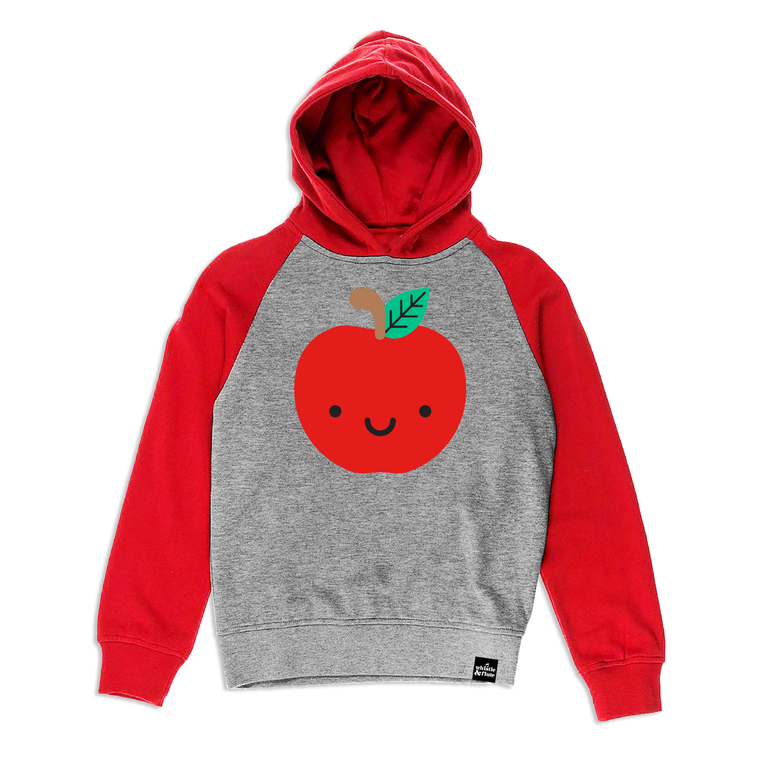 Whistle and Flute Kawaii Apple Hooded Sweatshirt