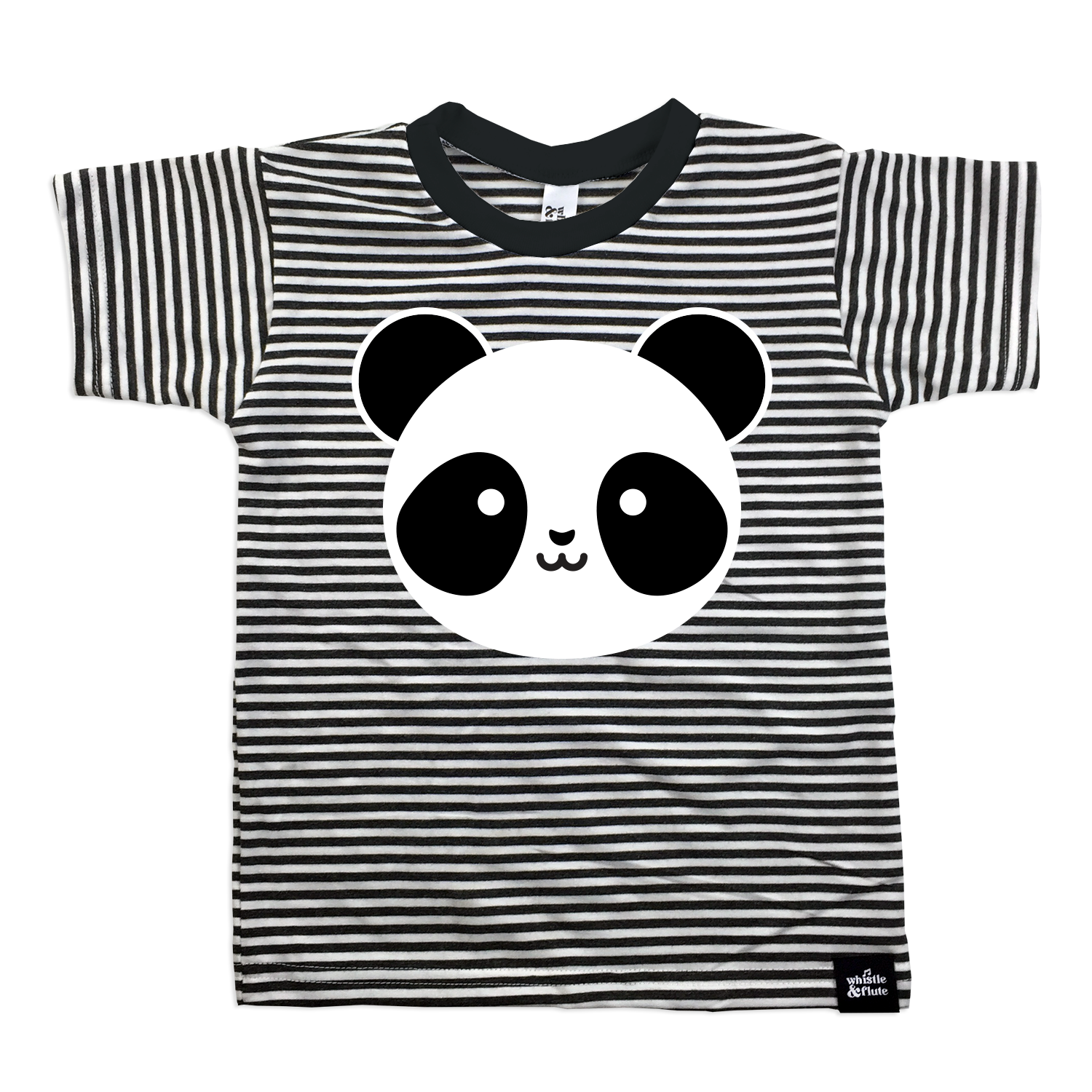 Whistle and Flute  Kawaii  Striped Panda T-Shirt