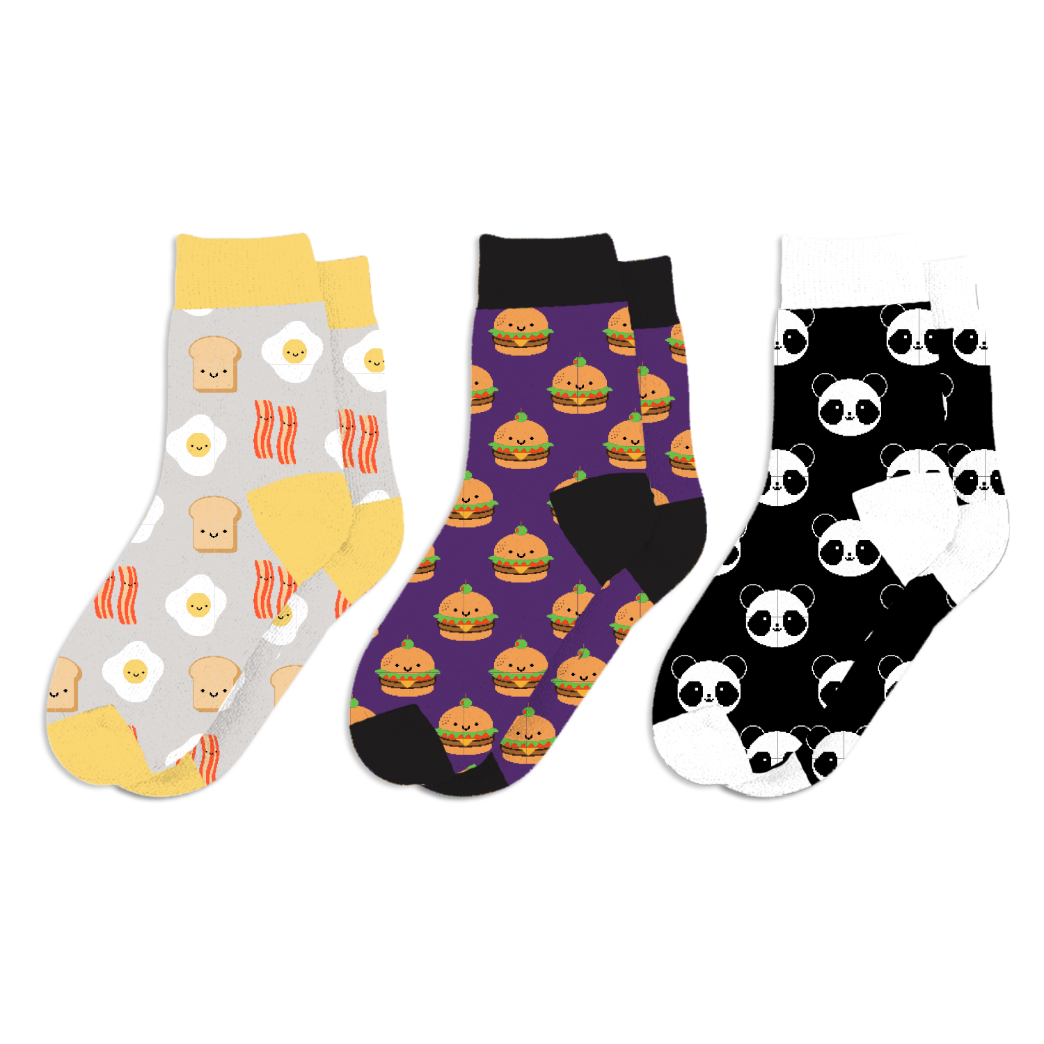 Whistle and Flute Kawaii Sock 3-Pack Series 2