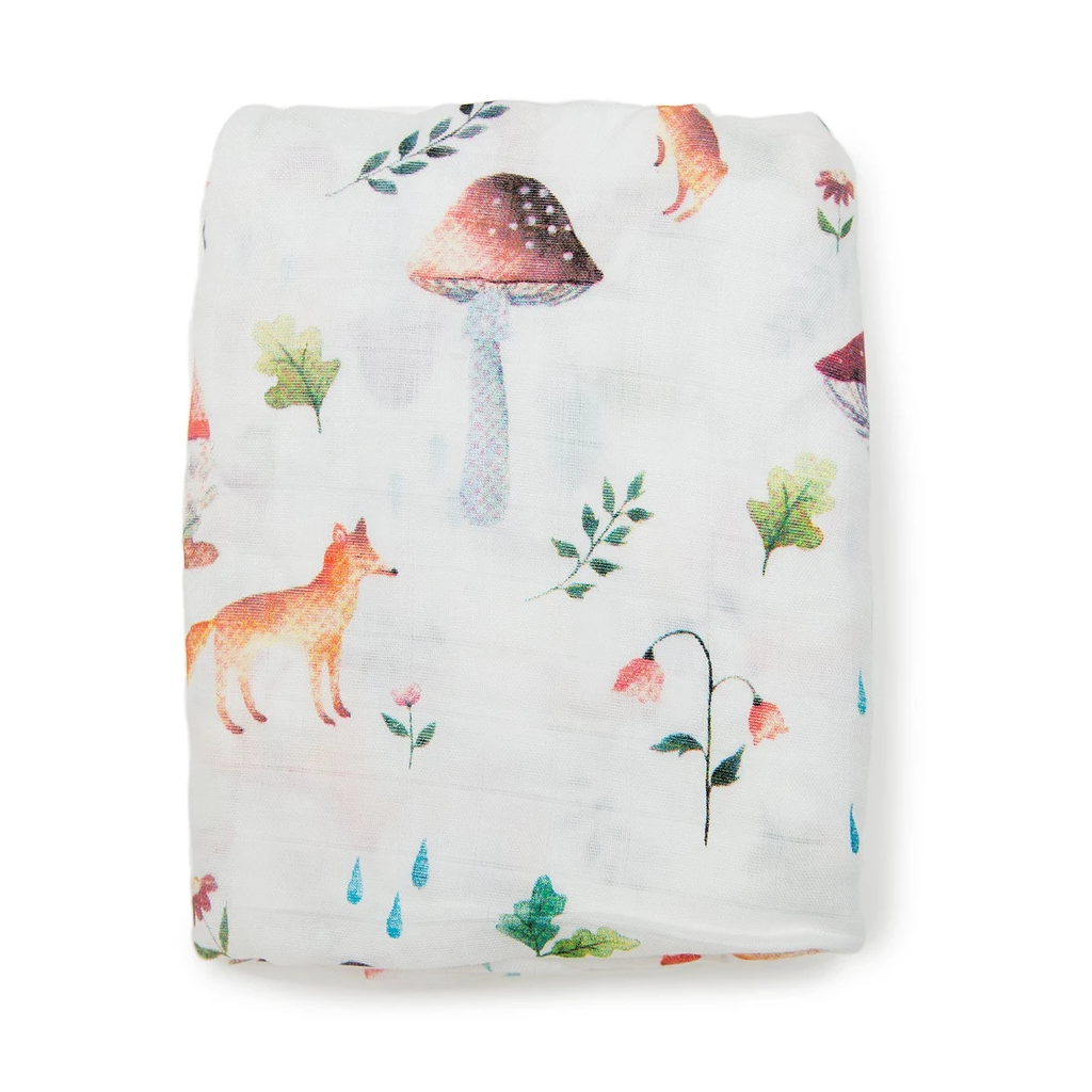 Loulou Lollipop Fitted Crib Sheet - Woodland Gnome