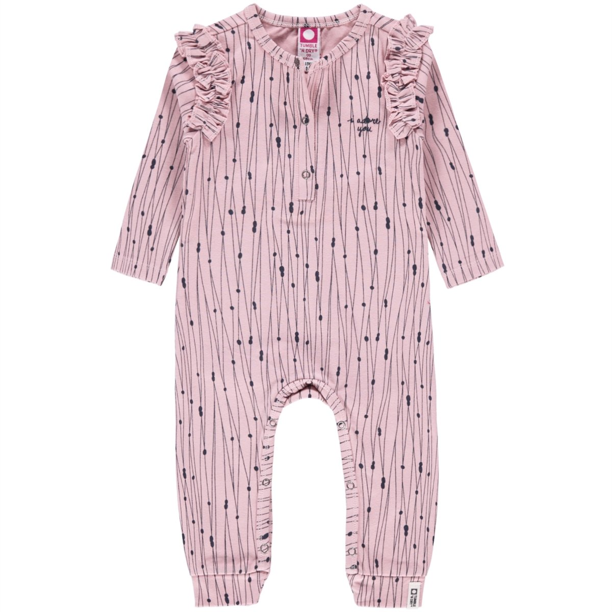 Tumble N Dry Ziga GIRLS ZERO ONESIE in Light Pink
