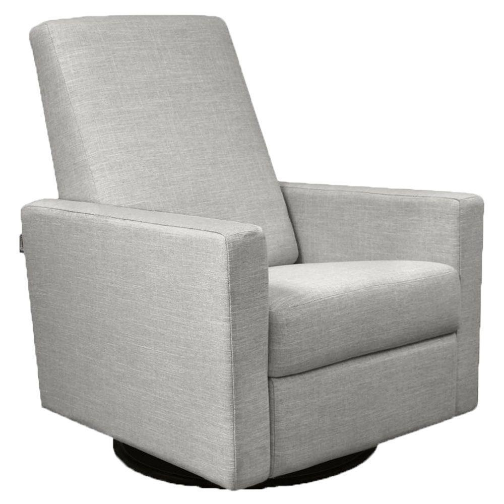 Dutailier Alsace Glide, recline, integrated footrest, swivel - CD Fabric in Matte black Finish