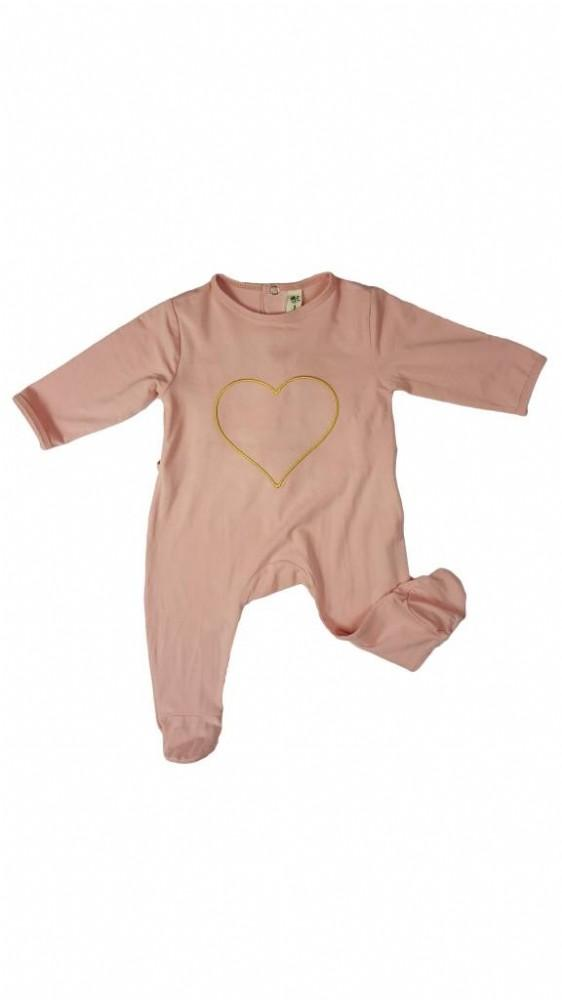 Earth Baby Outfitters Bamboo Long Sleeve Back Flap/Rear Opening Coverall