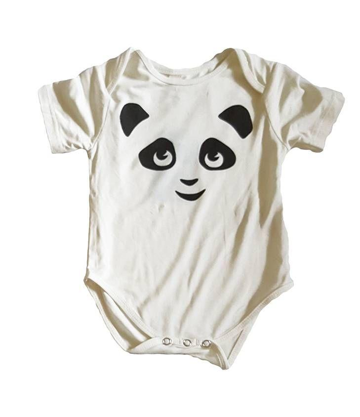 Earth Baby Outfitters Bamboo Short Sleeve with PANDA Short Sleeve Onesie