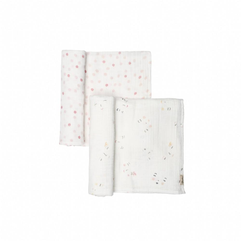 Pehr Designs Peek-A-Boo Sleepy + Hatched Dots Swaddle Set
