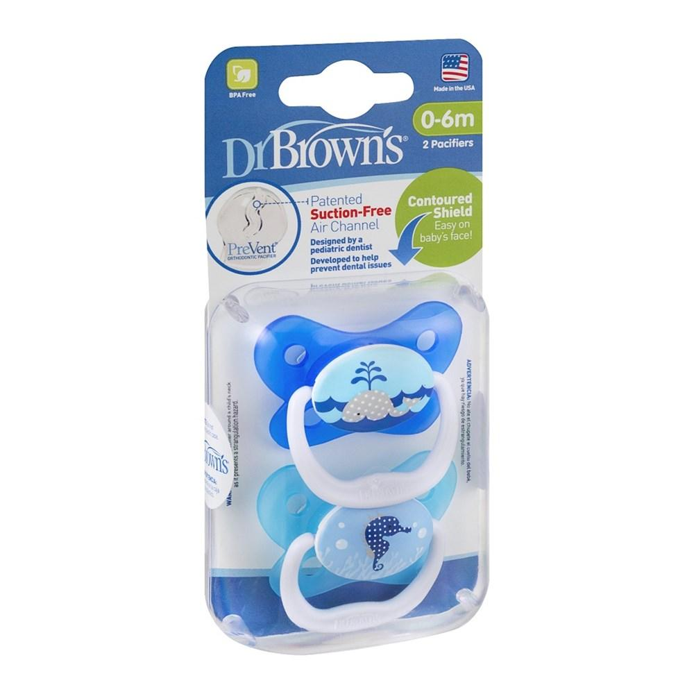Dr Brown's Prevent Butterfly Pacifier Asst 2-Pk