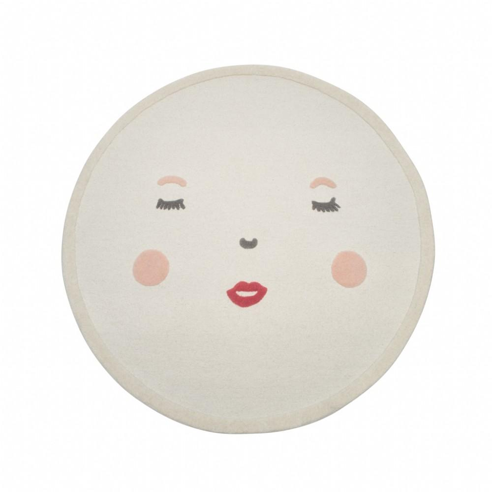 "Pehr Designs Peek-A-Boo Face Rug in 5"" Round"