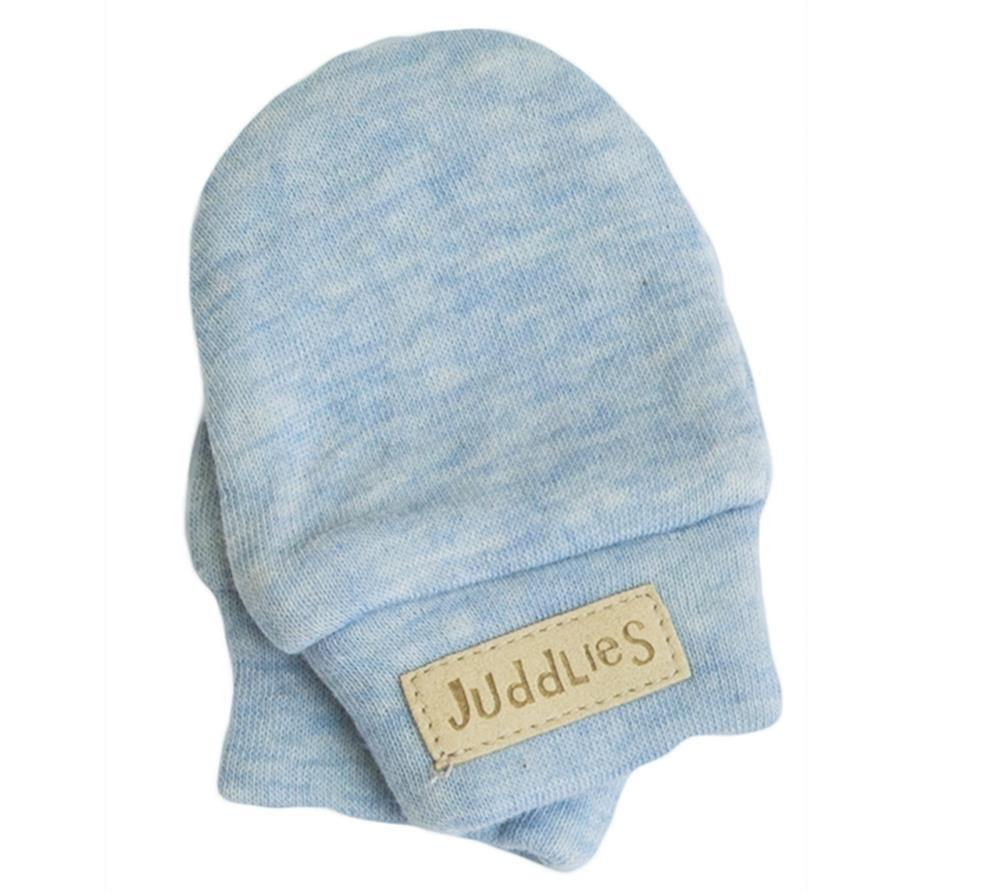 Juddlies Scratch Mitts in Blue Fleck