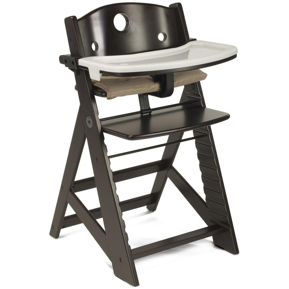 Keekaroo Height Right High Chair with Tray & Cloth Seat in Espresso