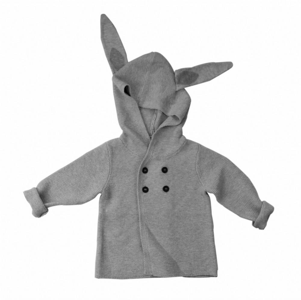 Earth Baby Outfitters Cotton Knit Jackets and Pullovers in Bunny Jacket
