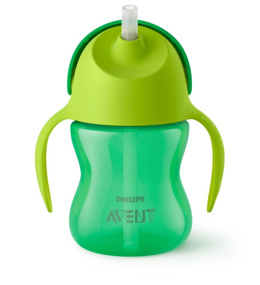 Philips Avent My Bendy Straw Cup 7oz 2pk Girl