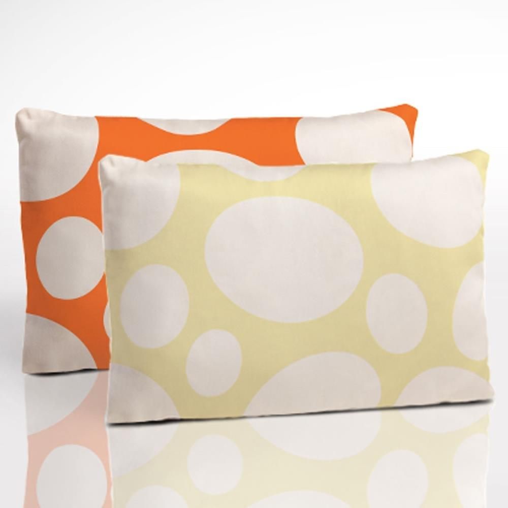 Nook Toddler Pillow Two-Sided Pillow in Daffodil and Poppy