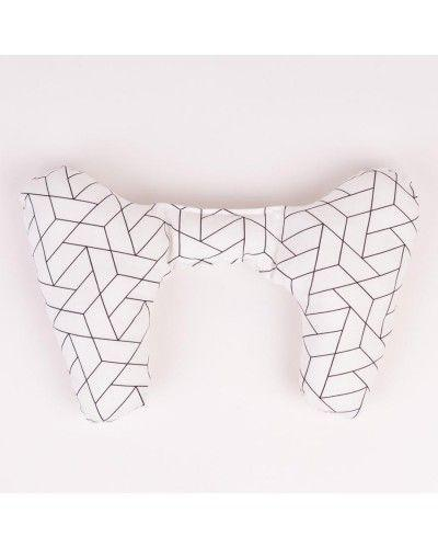 Ellie Ears Support Pillow in Geometric Tile