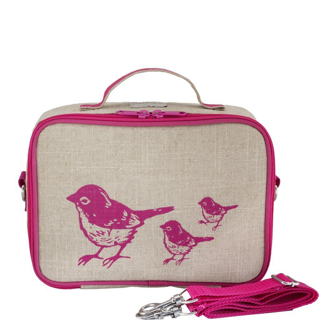 So Young Mother Pink Birds Lunchbox