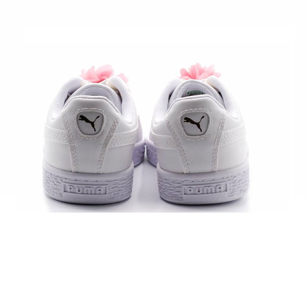 Puma BASKET FLOWER AC in Puma White-Pale Pink
