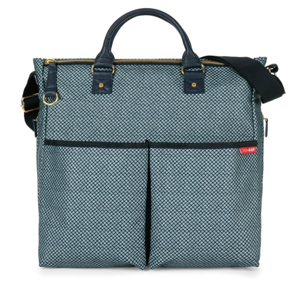 Skip Hop Duo Signature Special Edition Diaper Bag in Blue Pinpoint