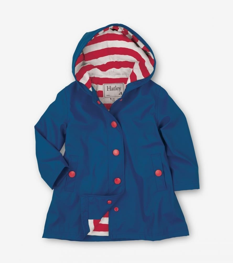 Hatley Navy with Red Stripe Lining Splash Jacket