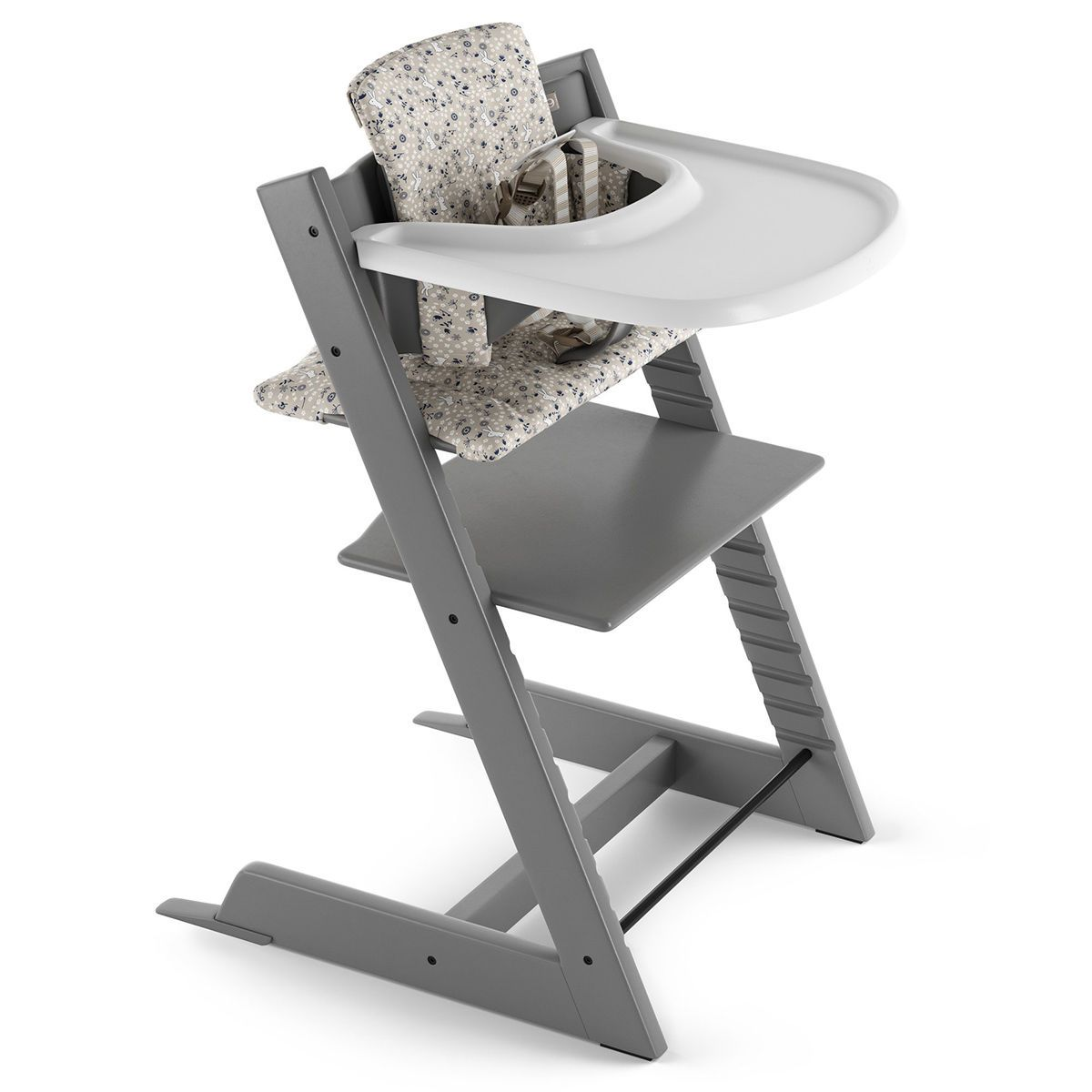 Stokke Tripp Trapp Complete in Storm Grey finish with Garden Bunny