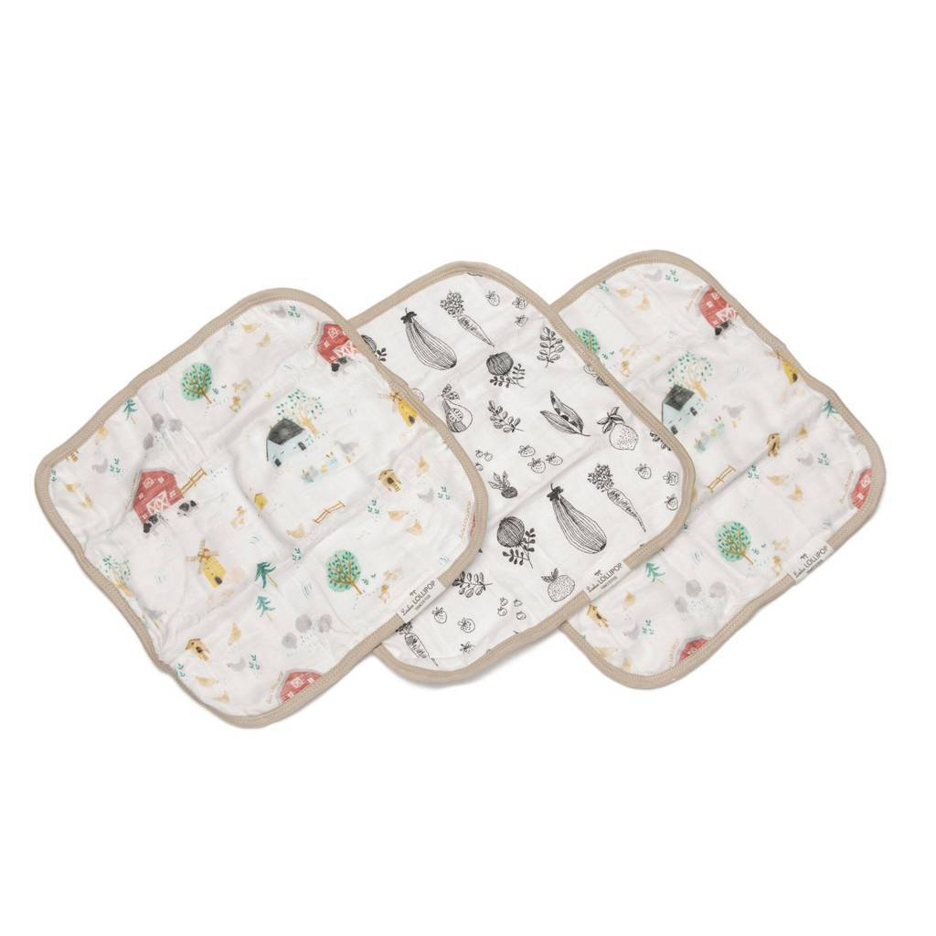 Loulou Lollipop Washcloth 3-pieces Set