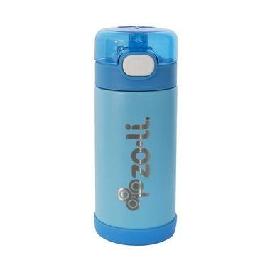 ZoLi POW SQUEAK Double Walled Insulated SS 10oz bottle - Blue
