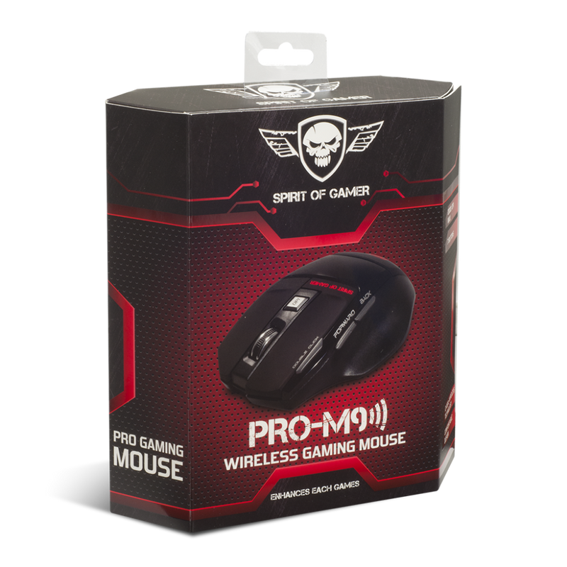 Spirit Of Gamer - Pro-M9 Wireless Gaming Muis - PC