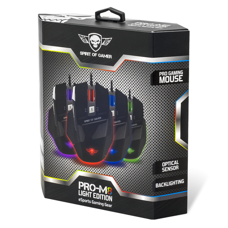 Spirit Of Gamer - Pro-M8 Optische Gaming Muis - PC