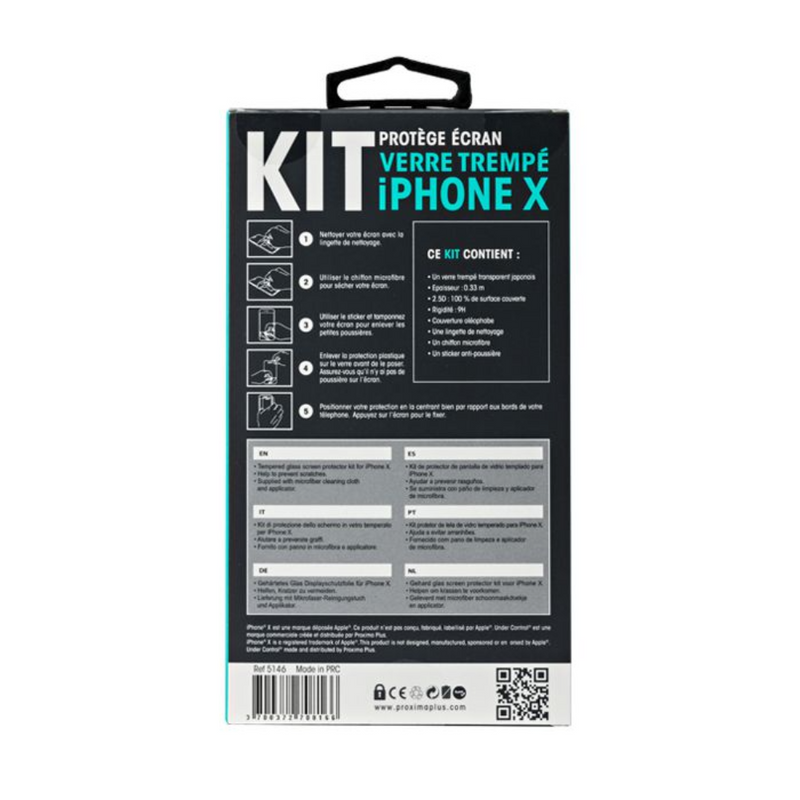 Under control iPhone X tempered glass