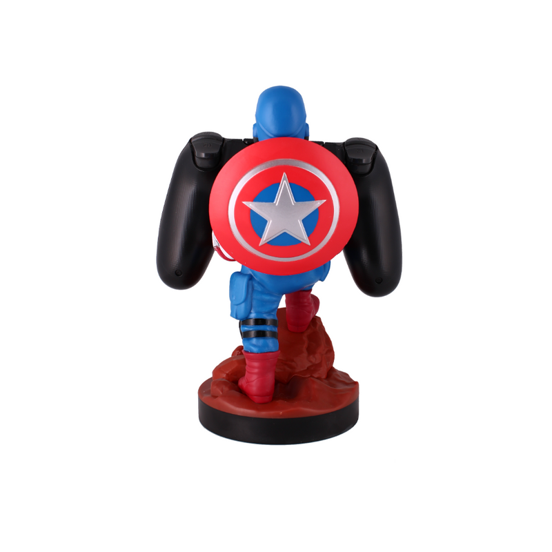 Cable Guy - Captain America telefoonhouder - game controller stand met usb oplaadkabel  8 inch