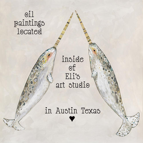 shop eli halpin's original oil paintings located inside of her art studio in austin texas