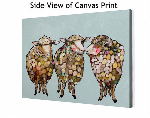 3 Woolly Sheep - Giclée Print