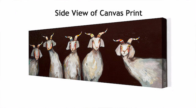 5 Goats on Chocolate - Giclée Print