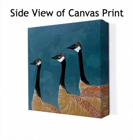 Canadian Geese in Blue - Giclée Print