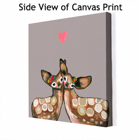 Fawn Love Neutral - Giclée Print