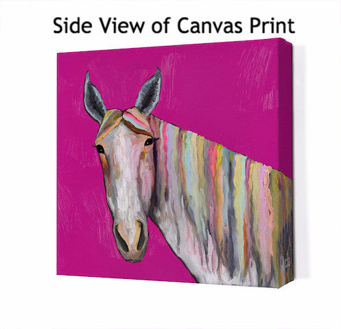 Horse On Pink - Giclée Print