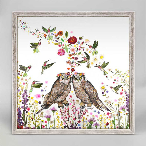 "Ruby Throated Hummingbird Watch Print 6"" x 6"""