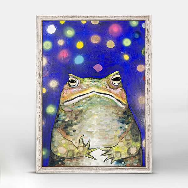 "Toad with Fireflies Mini Print 5"" x 7"""