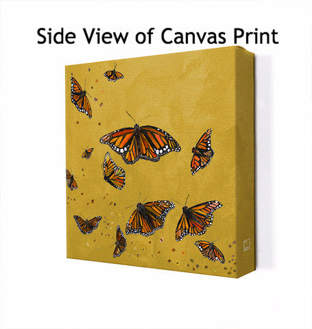 Monarchs in Curry Yellow - Giclée Print