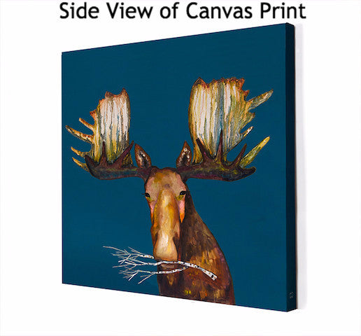 Moose With Branch - Giclée Print