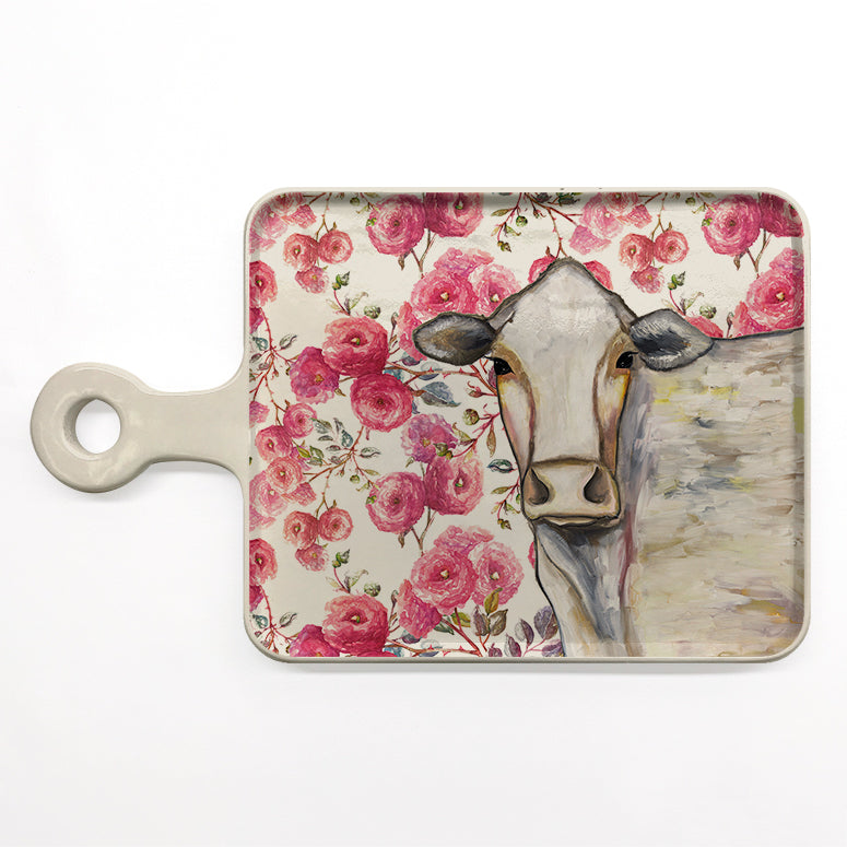 Cow Floral Cheese Board