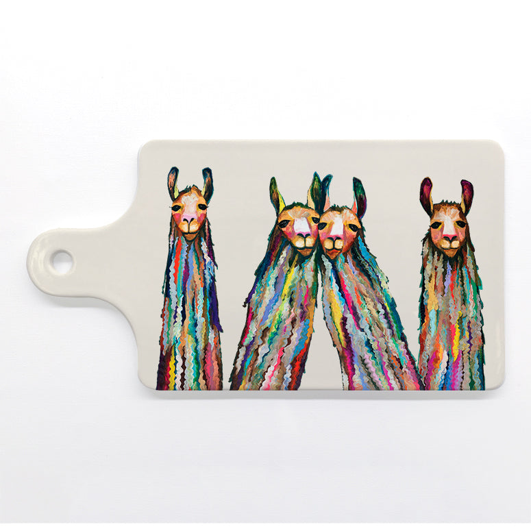 Four Lively Llamas Cheese Board