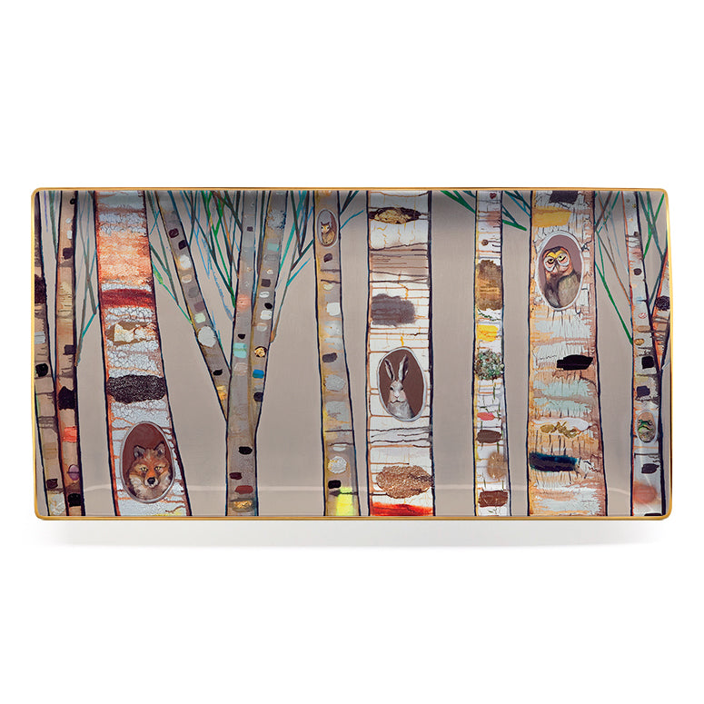 Birch Trees Large Platter