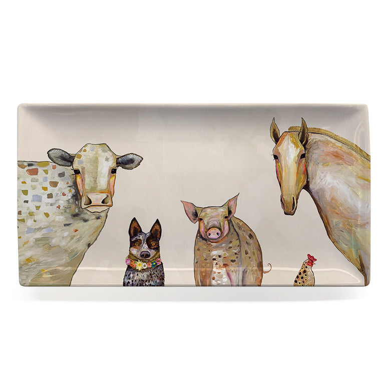 Cattle Dog and Crew Large Platter
