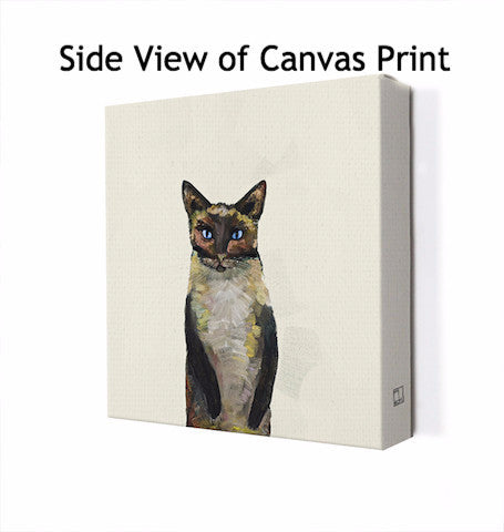 Siamese Cat on Cream - Giclée Print