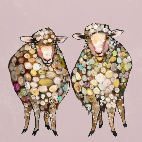 2 Woolly Sheep - Giclée Print
